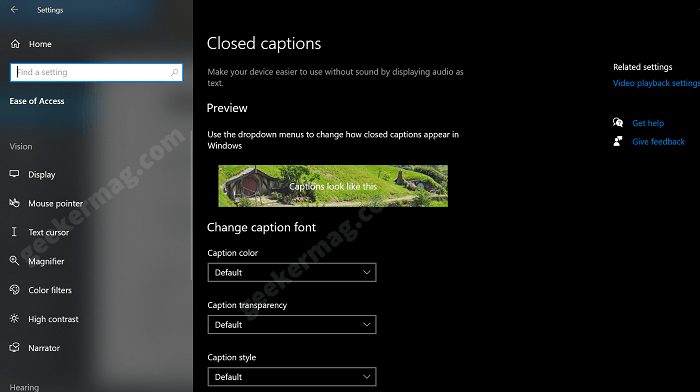 customize caption in windows 10