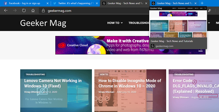 How to Enable Tab Previews in Microsoft Edge Chromium