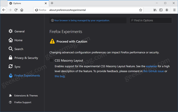 How to Enable Firefox Experiments Page in Firefox 79