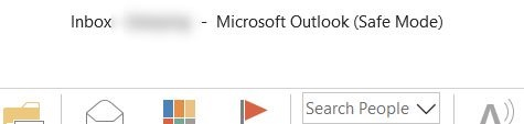 Microsoft outlook app in safe mode
