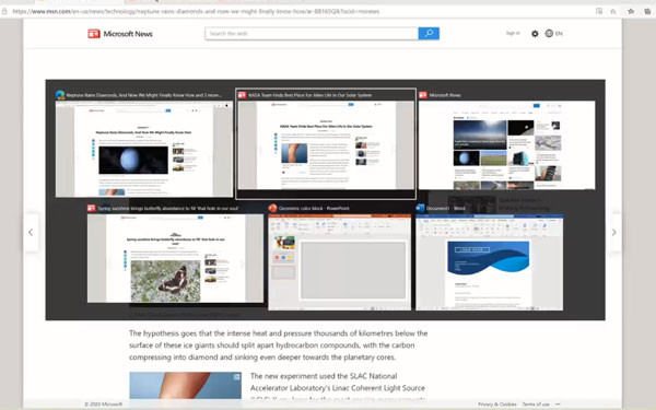 Microsoft Edge to let you Switch Between Recent Tabs via ALT+Tab