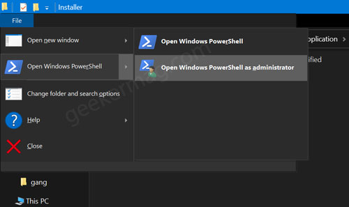 open windows powershell as administrator in windows 10