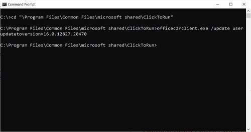 outlook command prompt