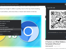 How to Share Image via QR Code in Google Chrome Canary