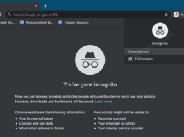 Chrome let you Create a Desktop Shortcut for Incognito Mode