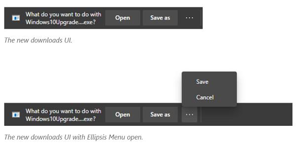 Microsoft Edge New Download UI