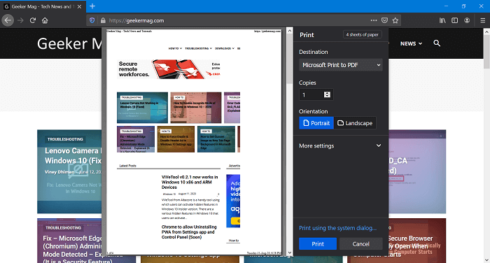 firefox new print preview ui