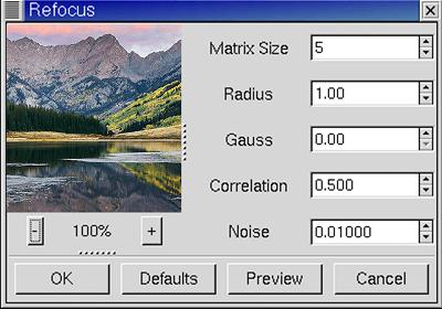 refocus plugin for gimp