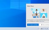 Create or Join Meet Now meeting from Windows 10 Taskbar