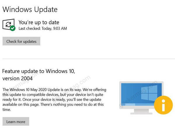 How to Bypass Upgrade Blocks to get Feature Updates in Windows 10