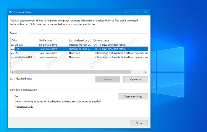 Windows 10 Defrag tool is getting new features
