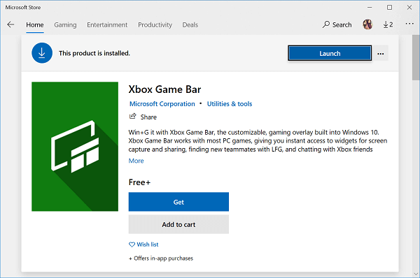 download xbox game bar app from microsoft store