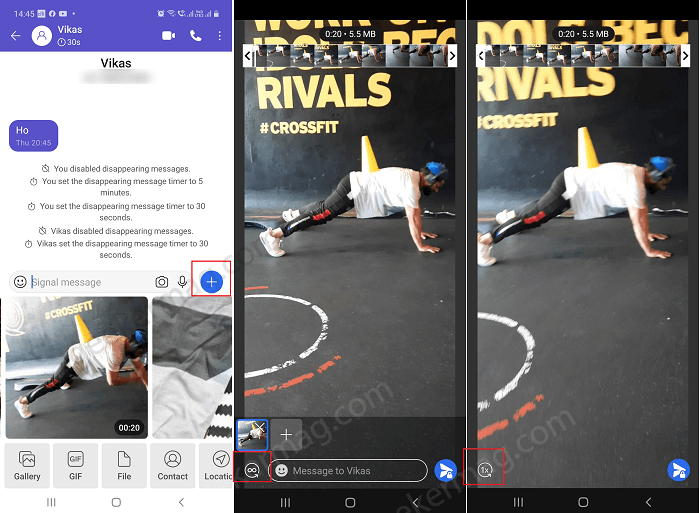 Send Disappearing Photos and Video on Signal