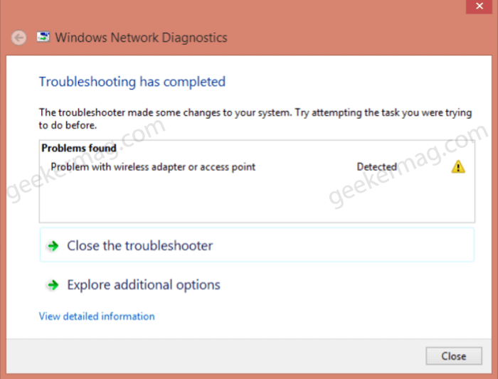 Fix - Problem with wireless adapter or access point in Windows 10