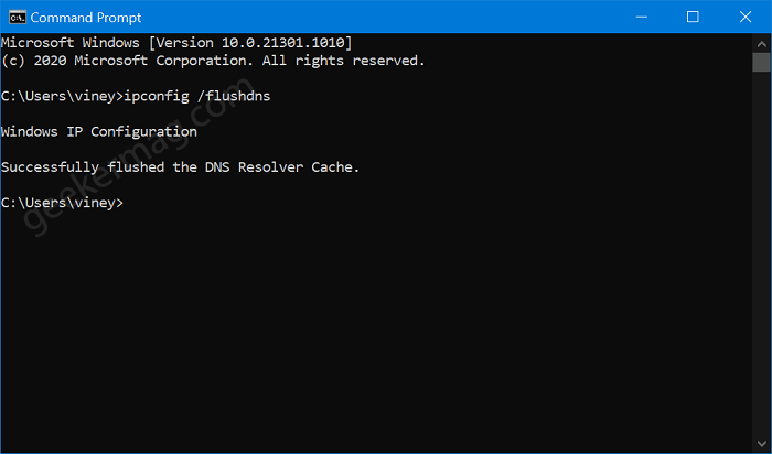How to Flush DNS Cache in Windows 10 using Command Prompt