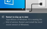 Fix - Your version of Windows 10 would reach the end of service soon