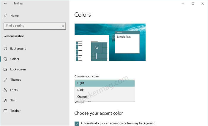 choose your color mode