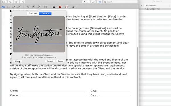 Create Signature in Mac using Preview app