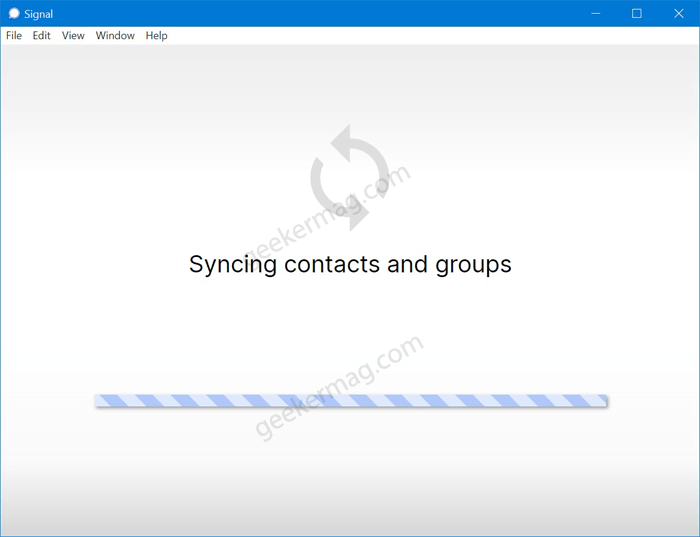 signal syncing content