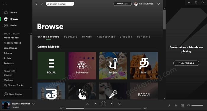 Spotify current UI