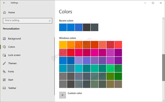 Apply Windows Color in Windows 10