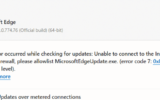 An error occurred while checking for updates