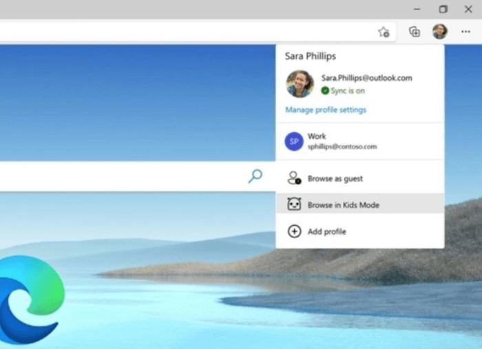 Browse in Kids mode in Microsoft Edge