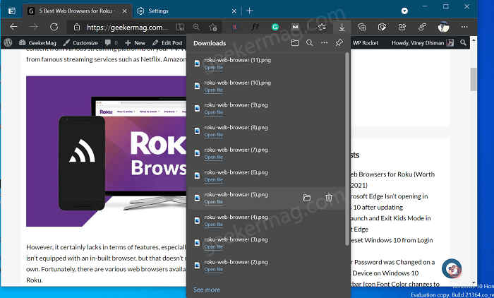 How to Show or Hide Download Flyout when download starts in Microsoft Edge