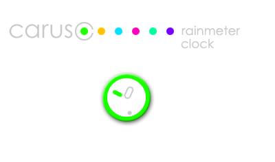 Caruso Clock Rainmeter Skin