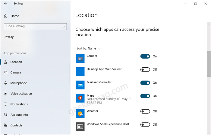 Choose which apps can access your precise location