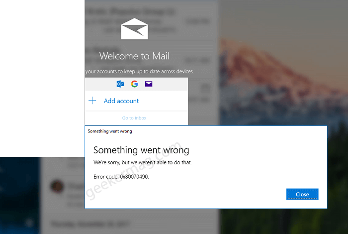 Fix - Unable to Add Gmail/Outlook Account to Windows 10