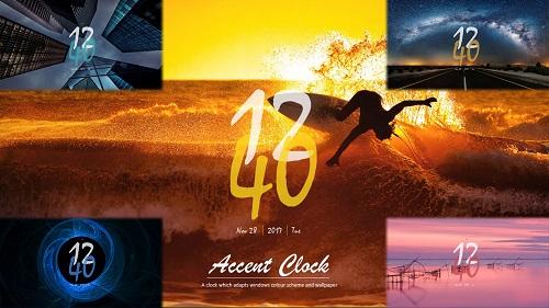 Accent Clock Rainmeter Skin