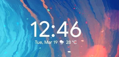 Android Pie Style Rainmeter Clock