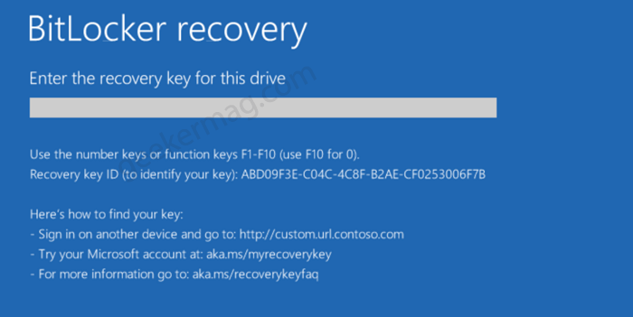 Fix - Bitlocker need Recovery key that's never installed in Dell Laptop