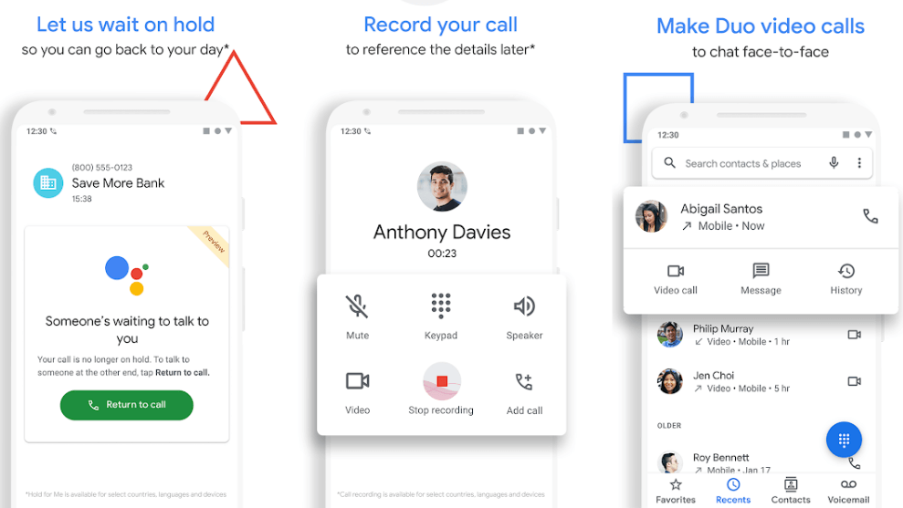 Phone by google for call recording