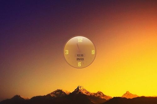 Reverse Shape Clock