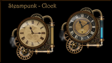 Steampunk Watch Rainmeter Skin