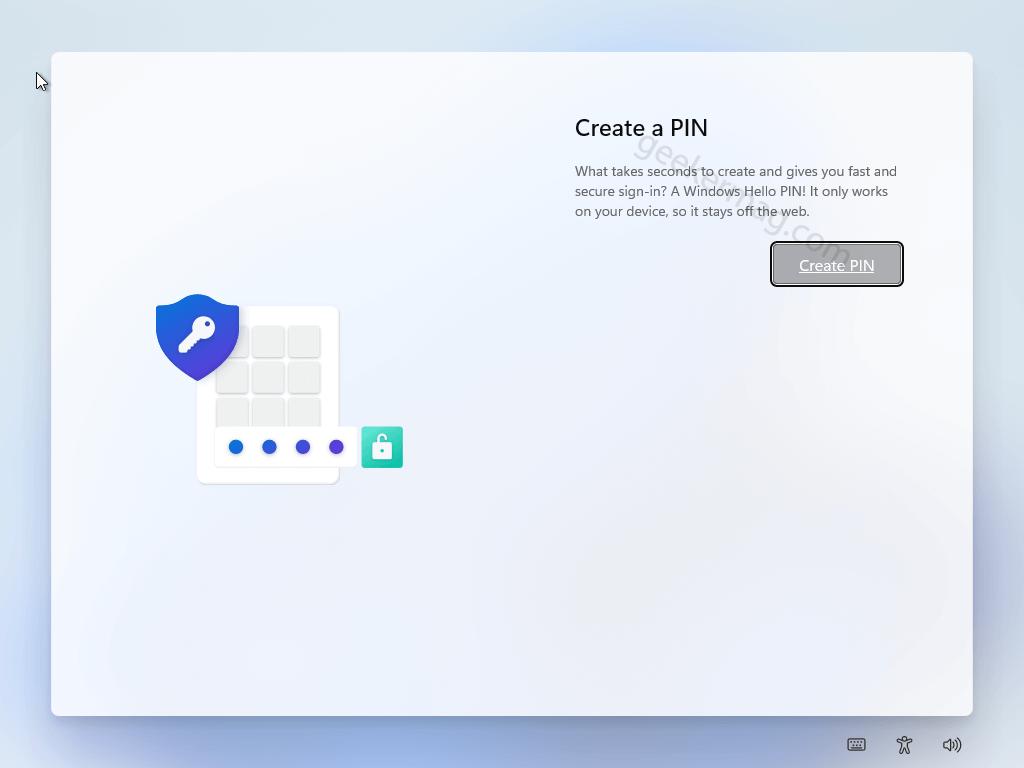 Set a pin of Windows 11