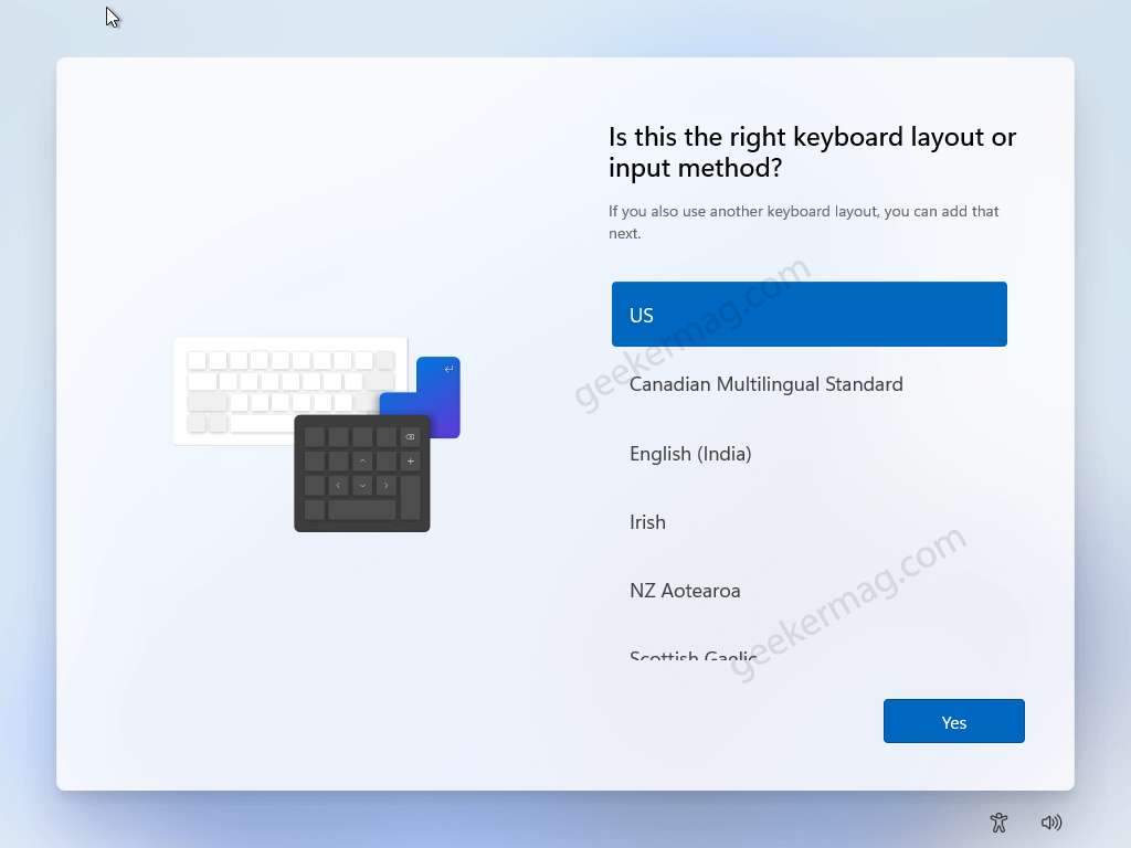 Is this the right keyboard layout or input method for windows 11