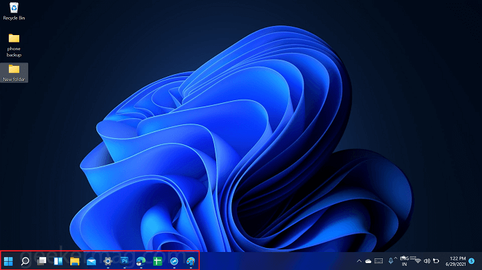 Left align taskbar icon in windows 11