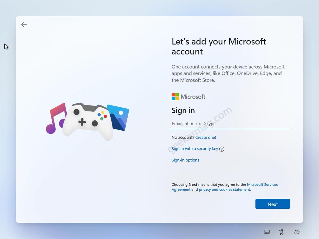 Add your microsoft account to Windows 10