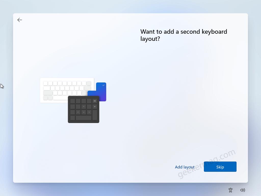 Add a Secondary keyboard