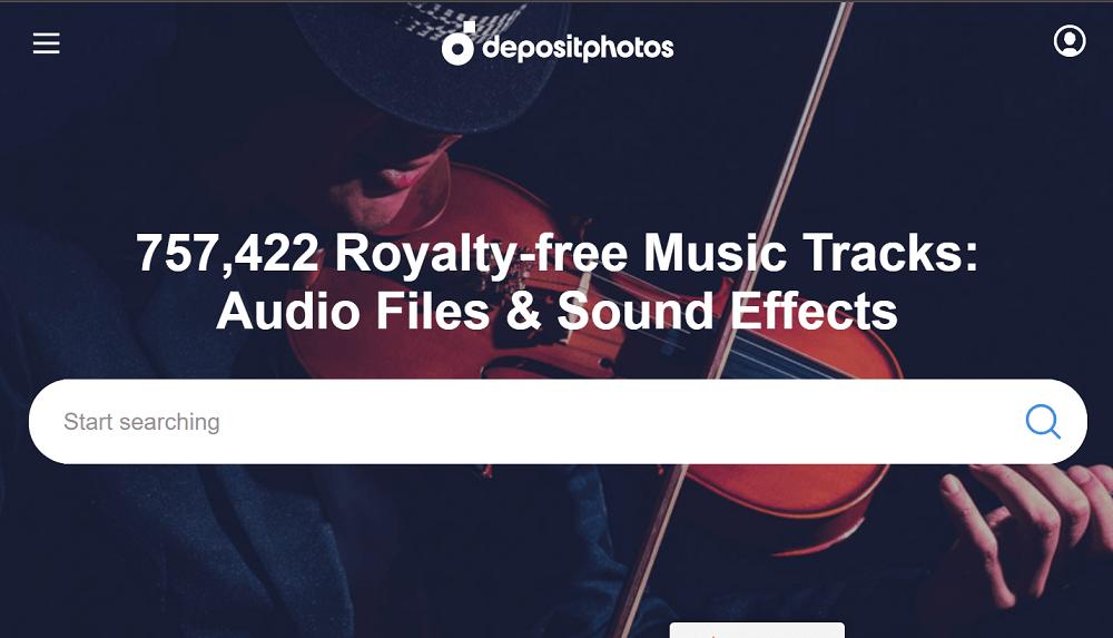DepositPhotos - Download Stock Audio Files