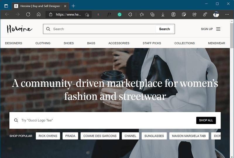 Heroine - Best Websites like Poshmark