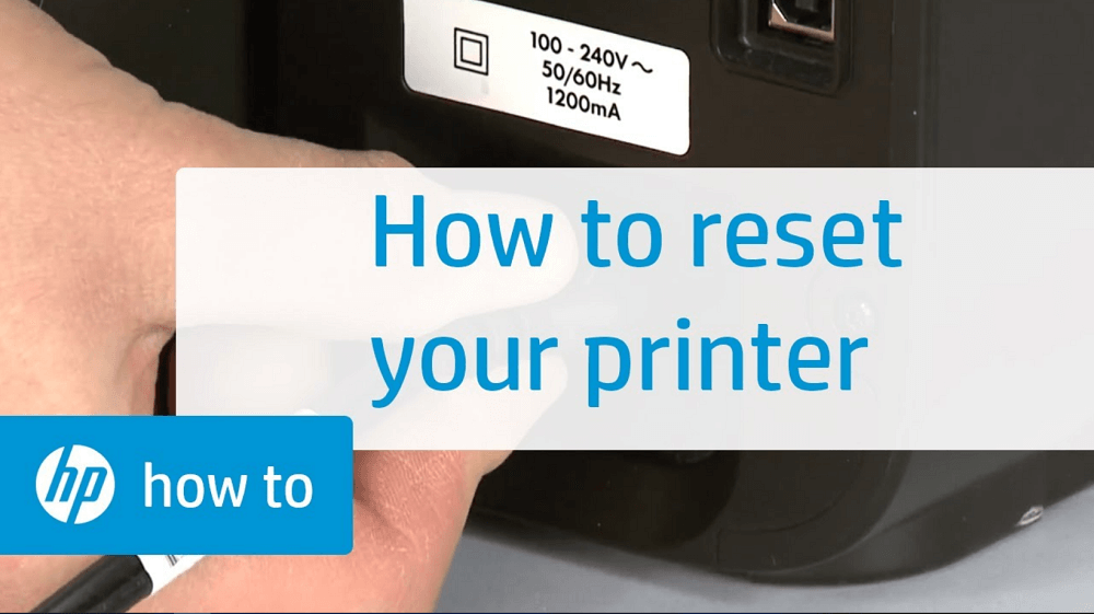How To Reset HP Printer to Factory Settings