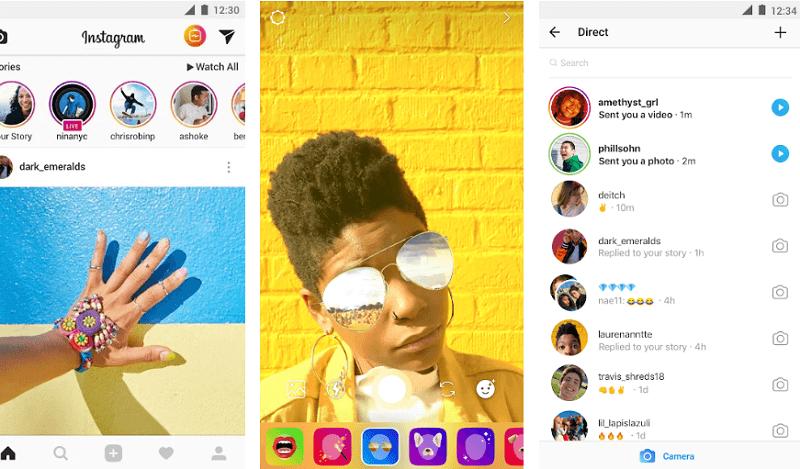 Instagram - Snapchat alternative