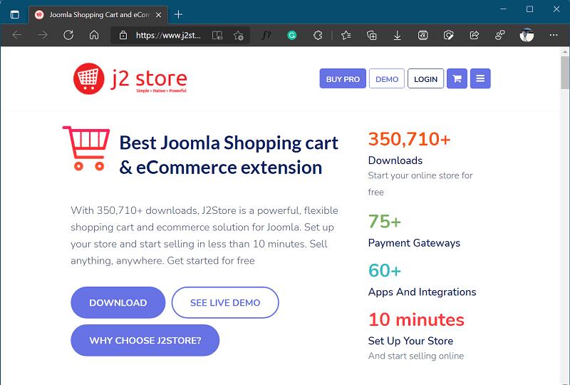 J2 Store - site like klarna