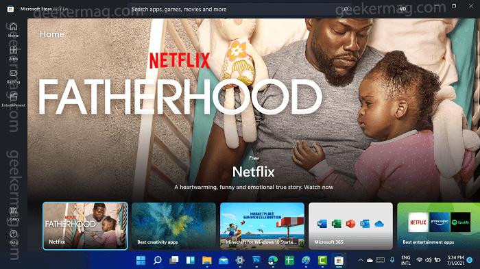Redesigned Microsoft Store app Windows 11