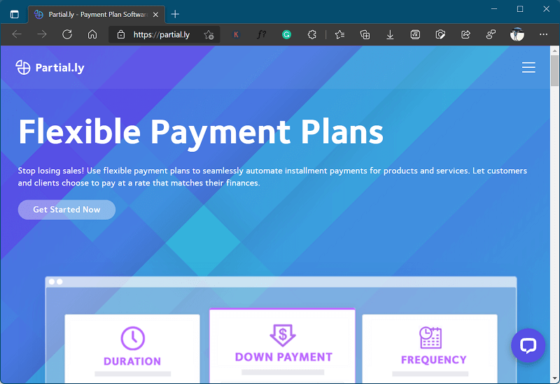 Partial.ly - site like klarna