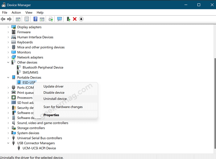 Uninstall and Reconnect USB Flash Drive